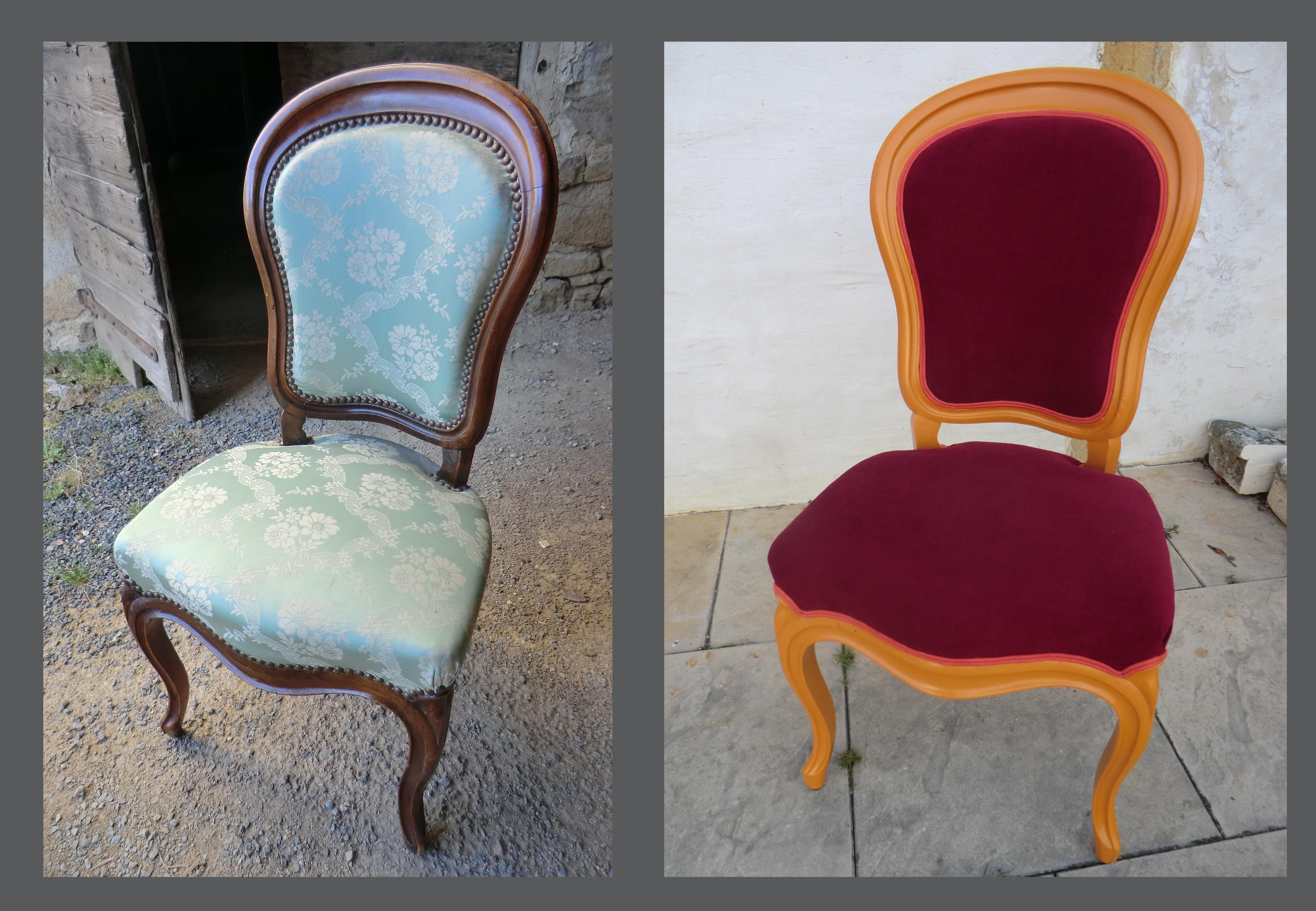 chaise louis philippe avant apres